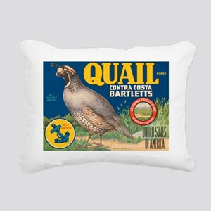 Quail Pear Fruit Crate Label Rectangular Canvas Pi